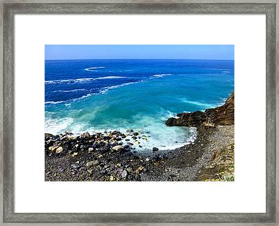 Ligurian Coastline Framed Print