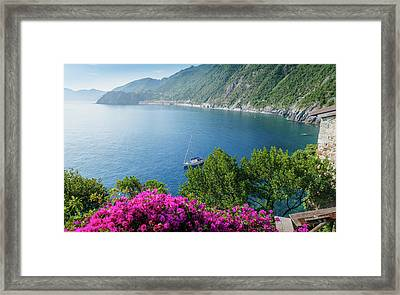 Ligurian Sea, Italy Framed Print
