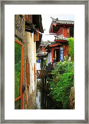 Lijiang Back Canal Framed Print