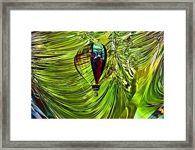 Like A Balloon Behind The Curtains Framed Print by Jeff Swan