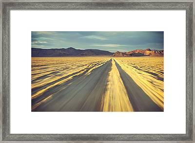 Like A Band Of Gypsies We Go Down The Desert Framed Print