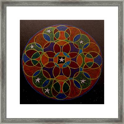 Framed Print featuring the drawing Like A Diamond In The Sky by Patricia Januszkiewicz