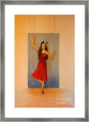 Puppet On A String Framed Print