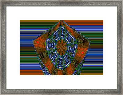 Like A Red Abstract Snowflake Framed Print