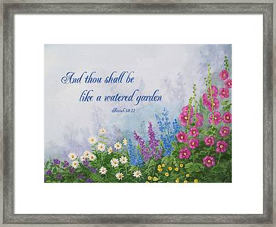 Like A Watered Garden Framed Print by Sandra Poirier