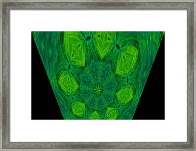 Like An Abstracted Dandelion Framed Print by Jeff Swan