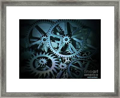 Like Clockwork Framed Print by Sandra Gallegos