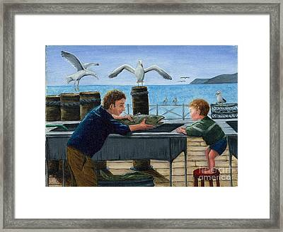 Framed Print featuring the painting Like Father by Gail Finn