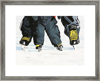 Like Father Like Son Framed Print by Betty-Anne McDonald