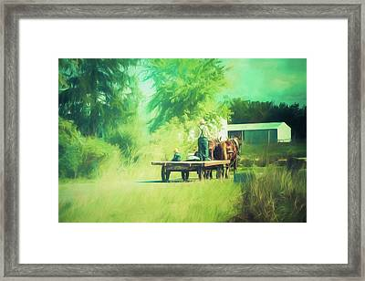 Framed Print featuring the photograph Like Father, Like Son by Joel Witmeyer