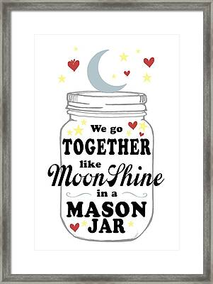 Like Moonshine In A Mason Jar Framed Print