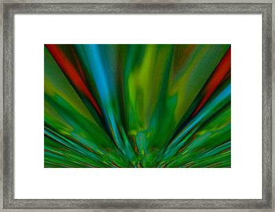 Like Rays Gliding Across The Sky Framed Print by Jeff Swan