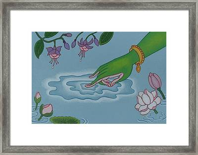 Like Writing On Water 3 Framed Print by Andrea Nerozzi