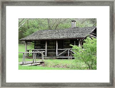 Lil Cabin Home On The Hill  Framed Print