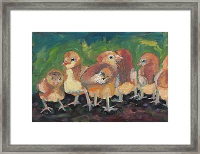 Lil' Chicks Framed Print