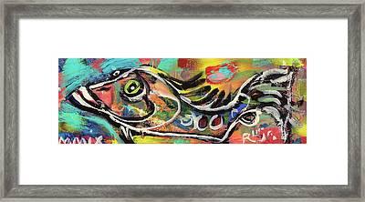 Lil Funky Folk Fish Number Eleven Framed Print by Robert Wolverton Jr