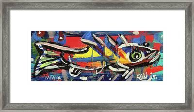 Lil Funky Folk Fish Number Nine Framed Print