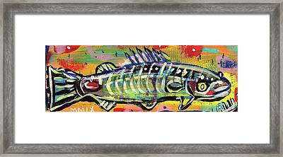Lil' Funky Folk Fish Number Ten Framed Print by Robert Wolverton Jr