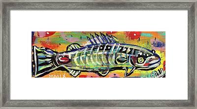 Lil' Funky Folk Fish Number Ten Framed Print by Robert Wolverton Jr