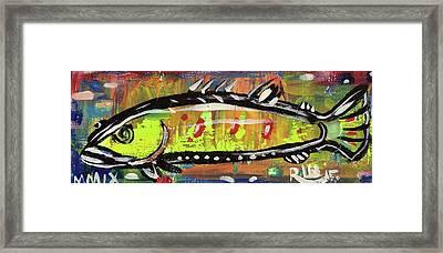 Lil Funky Folk Fish Number Twelve Framed Print by Robert Wolverton Jr