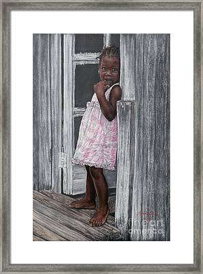 Lil' Girl In Pink Framed Print