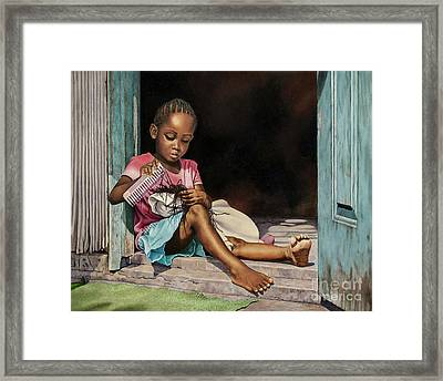 Lil' Hair Braider Framed Print