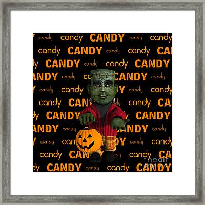 Lil Monster Halloween Framed Print by Methune Hively