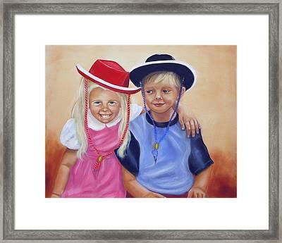 Lil Pardners Framed Print by Joni McPherson