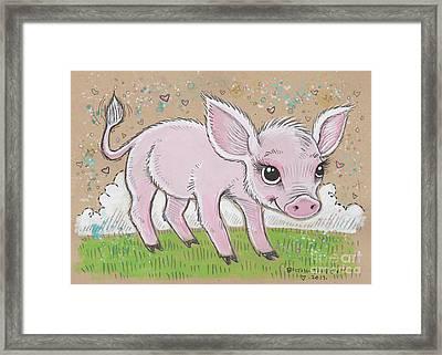 Lil Piglet Framed Print by Maria Bolton-Joubert