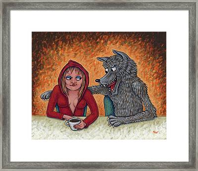 Lil' Red Hoodie Framed Print by Holly Wood