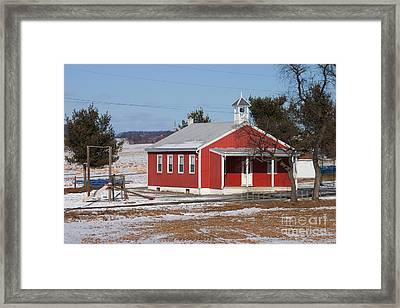 Lil Red School House Framed Print by Robert Sander