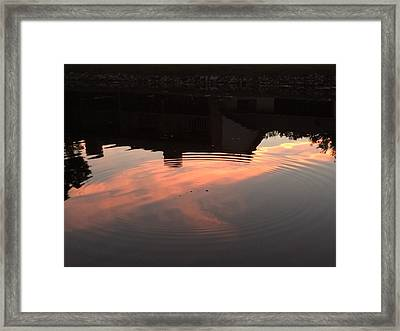Li'l Ripples In A Florida Lake Framed Print