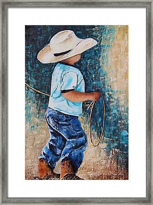 Li'l Rustler Framed Print by Patricia Pasbrig