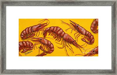 Lil Shrimp Framed Print