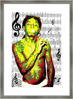 Lil Wayne Framed Print by Brad Scott