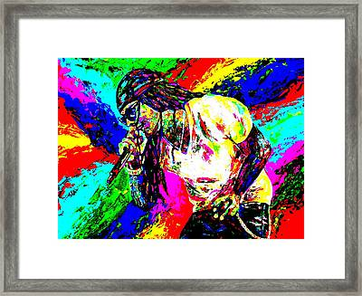Lil Wayne Framed Print by Mike OBrien