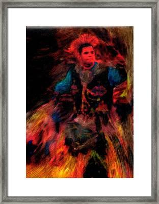 Lila Wakan Dancin For A Better World Framed Print