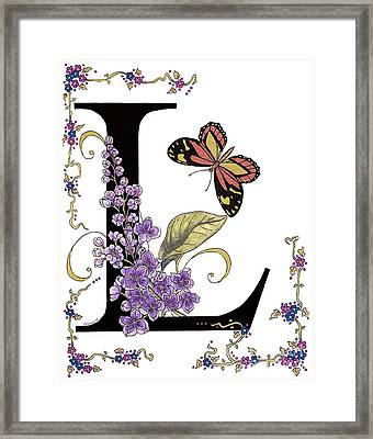 Lilac And Large Tiger Butterfly Framed Print by Stanza Widen