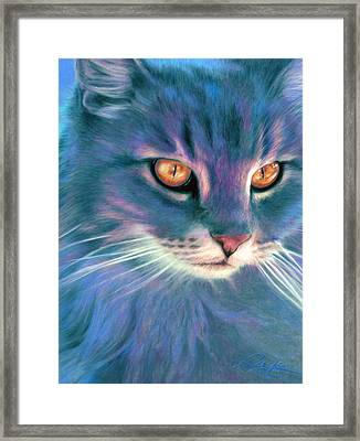 Lilac Cat Framed Print by Ragen Mendenhall