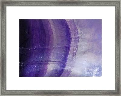 Lilac Contemporary Design Framed Print by Rebecca Lemke