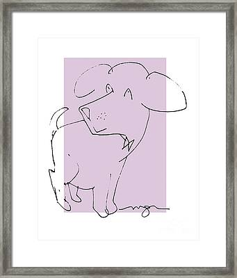 Lilac Dog Framed Print