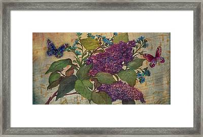 Lilac Dreams Illustrated Butterfly Framed Print