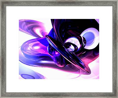 Lilac Fantasy Abstract Framed Print by Alexander Butler