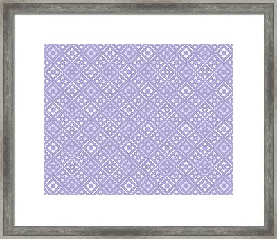Lilac Floral Framed Print by Inspired Arts