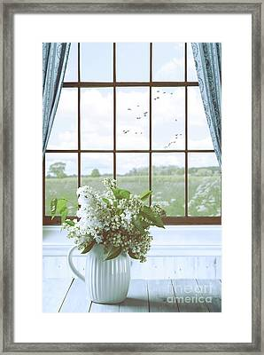 Lilac Flowers Still Life Framed Print