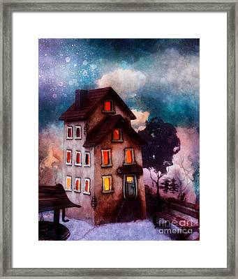 Lilac Hill Framed Print by Mo T