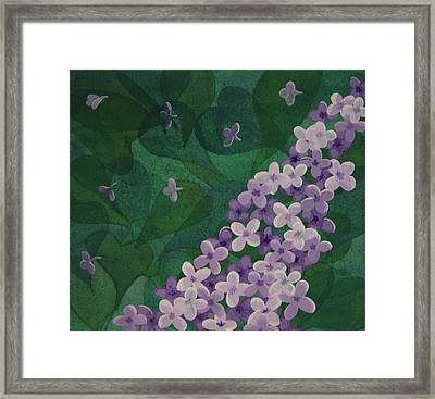 Framed Print featuring the painting Lilac by Paul Amaranto