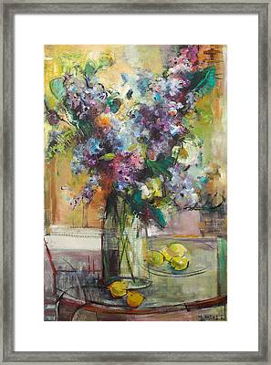 Lilacs And Lemons Framed Print by Blake Originals - Marjorie and Beverly
