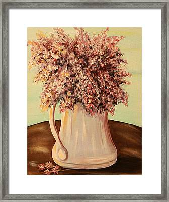 Lilacs For Mom Framed Print by Dyanne Parker