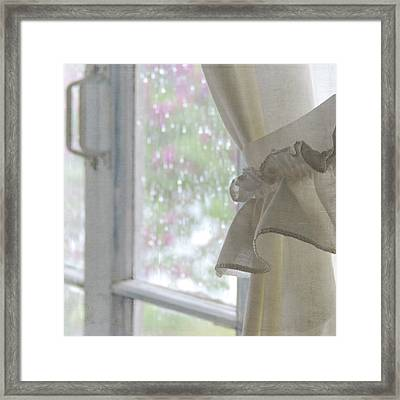 Lilacs In The Rain Framed Print